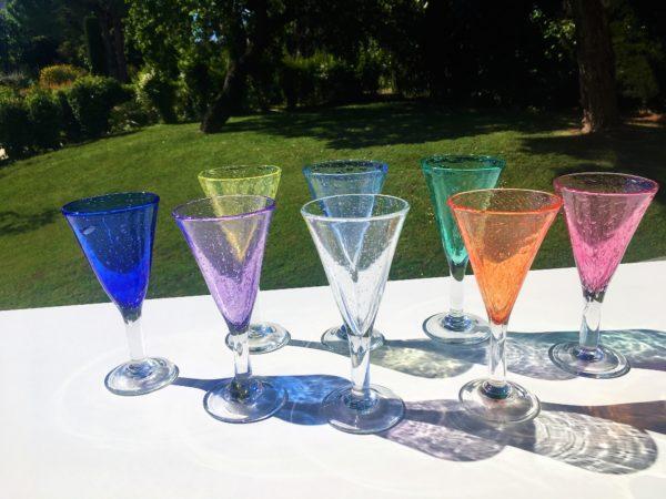 calice verre bullé biot verrerie farinelli