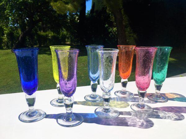 flute verre bullé biot verrerie farinelli
